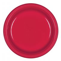 Apple Red Plastic Plates (10)